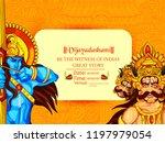 illustration of lord rama... | Shutterstock .eps vector #1197979054