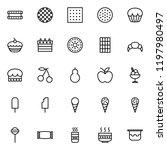 set of dessert line icons | Shutterstock .eps vector #1197980497