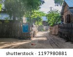 small village in bagan area ... | Shutterstock . vector #1197980881