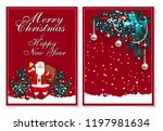 merry christmas and happy new... | Shutterstock .eps vector #1197981634