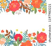 floral background. hand drawn... | Shutterstock .eps vector #1197983221