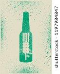 beer typographical vintage... | Shutterstock .eps vector #1197984847