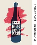 beer typographical vintage... | Shutterstock .eps vector #1197984877