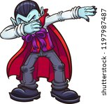 dabbing cartoon vampire. vector ... | Shutterstock .eps vector #1197987487