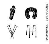 trauma treatment glyph icons...   Shutterstock .eps vector #1197989281
