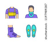 trauma treatment color icons... | Shutterstock .eps vector #1197989287
