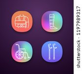 trauma treatment app icons set. ... | Shutterstock .eps vector #1197989317