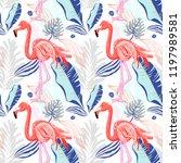 hand drawing seamless pattern... | Shutterstock . vector #1197989581