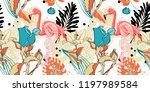hand drawing seamless pattern... | Shutterstock . vector #1197989584