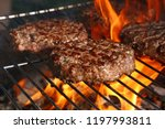 close up beef or pork meat... | Shutterstock . vector #1197993811