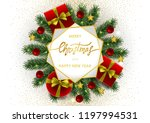 merry christmas and happy new... | Shutterstock .eps vector #1197994531
