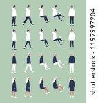 set of flat vector characters... | Shutterstock .eps vector #1197997204