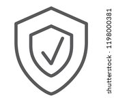 security status line icon ... | Shutterstock .eps vector #1198000381