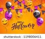 lettering happy halloween on... | Shutterstock .eps vector #1198006411