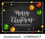 lettering merry christmas and... | Shutterstock .eps vector #1198006417