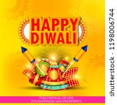 diwali festival holiday design... | Shutterstock .eps vector #1198006744