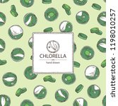 background with chlorella ... | Shutterstock .eps vector #1198010257