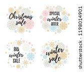 happy new year  let it snow  be ... | Shutterstock .eps vector #1198014901