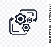 processing transparent icon.... | Shutterstock .eps vector #1198016134