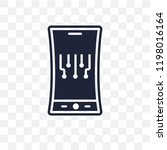 mobile flexible display... | Shutterstock .eps vector #1198016164