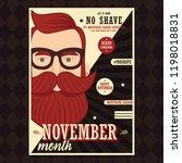 no shave november poster design ... | Shutterstock .eps vector #1198018831