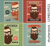 no shave november poster design ... | Shutterstock .eps vector #1198019521
