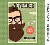 no shave november poster design ... | Shutterstock .eps vector #1198019881