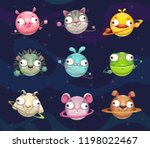 funny cartoon animal planets...