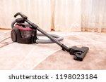 vacuum cleaner in the room on... | Shutterstock . vector #1198023184
