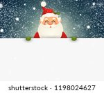 cheerful  cute santa claus... | Shutterstock .eps vector #1198024627