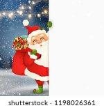 Happy Santa Claus Standing...