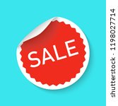 sale sticker icon isolated on a ... | Shutterstock .eps vector #1198027714