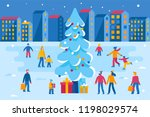vector illustration in flat... | Shutterstock .eps vector #1198029574