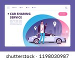 car sharing concept.... | Shutterstock .eps vector #1198030987