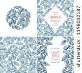 apple design template... | Shutterstock .eps vector #1198032187