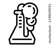 flask reaction icon. outline... | Shutterstock .eps vector #1198039051