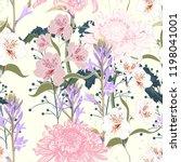 seamless pattern. beautiful... | Shutterstock .eps vector #1198041001
