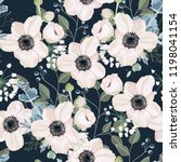 seamless pattern vector floral... | Shutterstock .eps vector #1198041154