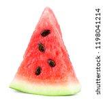 slice of watermelon fruit   Shutterstock . vector #1198041214