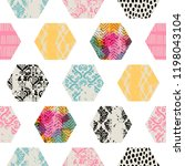 seamless abstract pattern with... | Shutterstock .eps vector #1198043104