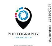 photography logo template... | Shutterstock .eps vector #1198047274