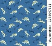 dinosaur skeleton seamless...   Shutterstock .eps vector #1198047811