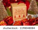 december 24th in advent...   Shutterstock . vector #1198048084