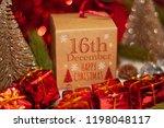 december 16th in advent...   Shutterstock . vector #1198048117