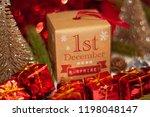december 1st in advent...   Shutterstock . vector #1198048147