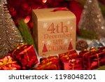 december 4th in advent...   Shutterstock . vector #1198048201