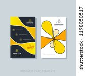 creative business card template ... | Shutterstock .eps vector #1198050517