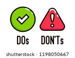 do and don't vector icons.