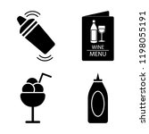set of 4 simple vector icons... | Shutterstock .eps vector #1198055191