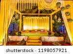 indian wedding stage.indian... | Shutterstock . vector #1198057921